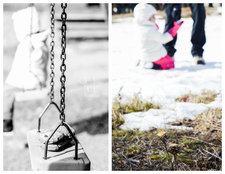 collage en nieve