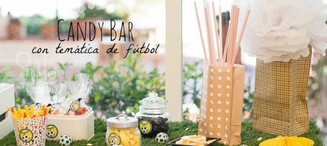Una candy bar de fútbol