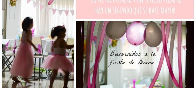 Un tutú rosa y una fiesta improvisada